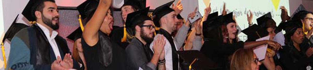Soirée de remise de diplômes des étudiants en Mastère à Paris