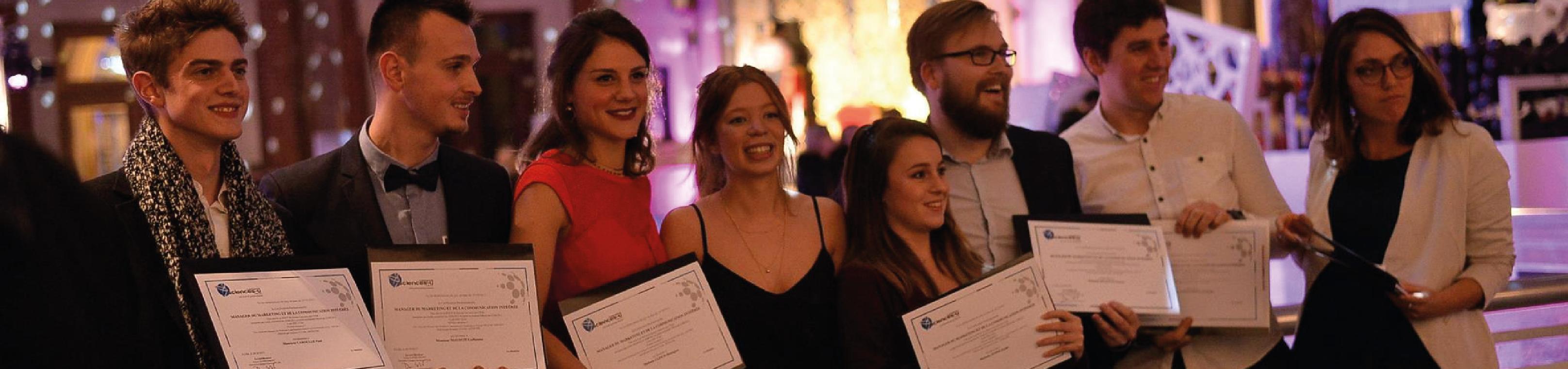 Remise de diplômes en fête à ESUPCOM Lille