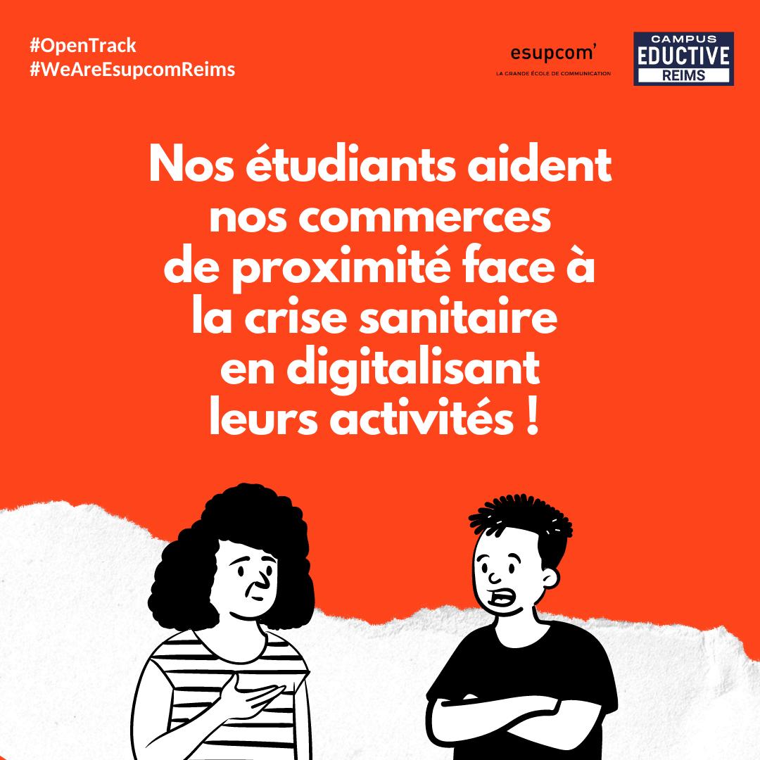 Nos étudiants aident nos commerces de proximité face à a crise sanitaire en digitalisant leurs activités !